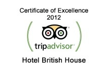 TripAdvisor - Certificate of Excellence 2012